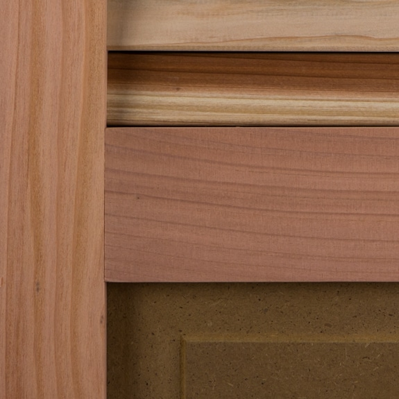 Redwood exterior window shutters for outside.