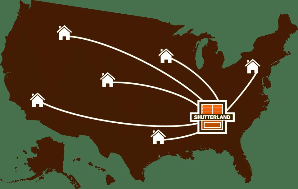 ShutterLand ships exterior shutters across America.
