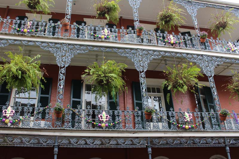 French Quarter shutters in New Orleans.
