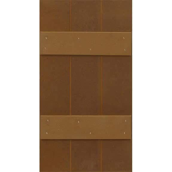 Composite board and batten DIY outdoor window shutters.