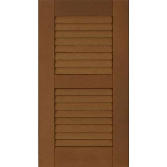 Composite weather-resistant exterior house shutters.