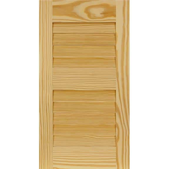 Exterior wooden pine shutter panel for home improvement.