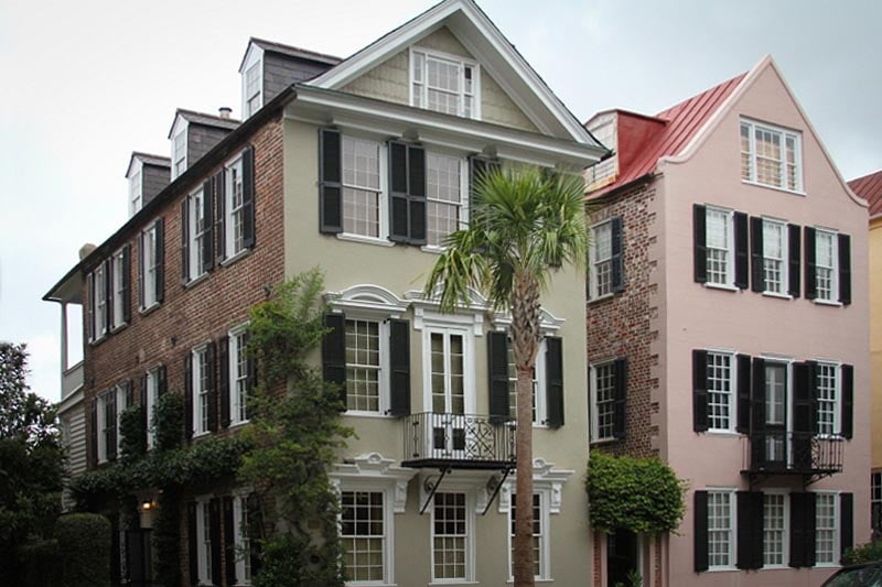 Exterior southern shutters in in South Carolina.