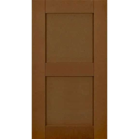 Flat panel composite exterior shutters.
