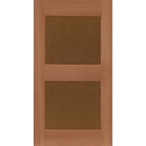 Wooden flat panel house shutters.