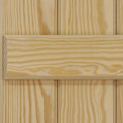 Solid board and batten economy southern yellow pine wooden exterior shutters.