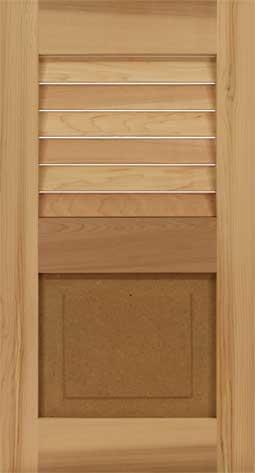 Wooden Cedar combo window shutters.