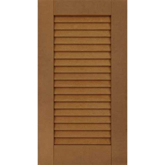 Solid composite louvered outside shutter for house windows.