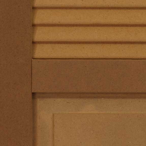 Combo exterior shutters made of composite.