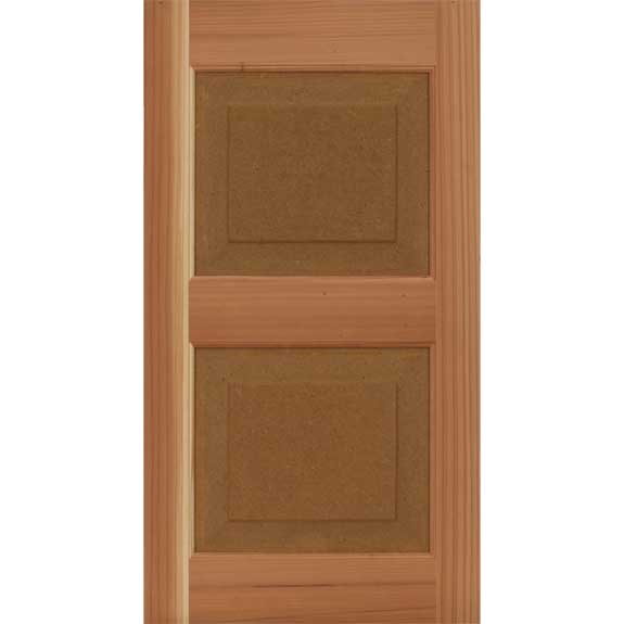 Unfinished DIY shutter panel for house window or door.
