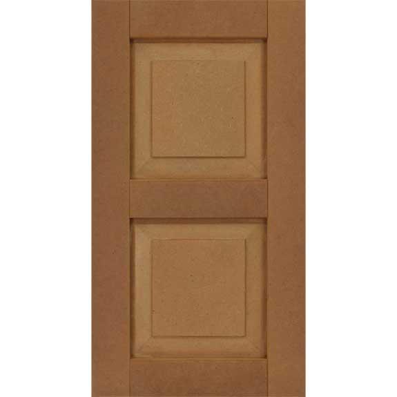 Raised panel composite exterior house shutter.