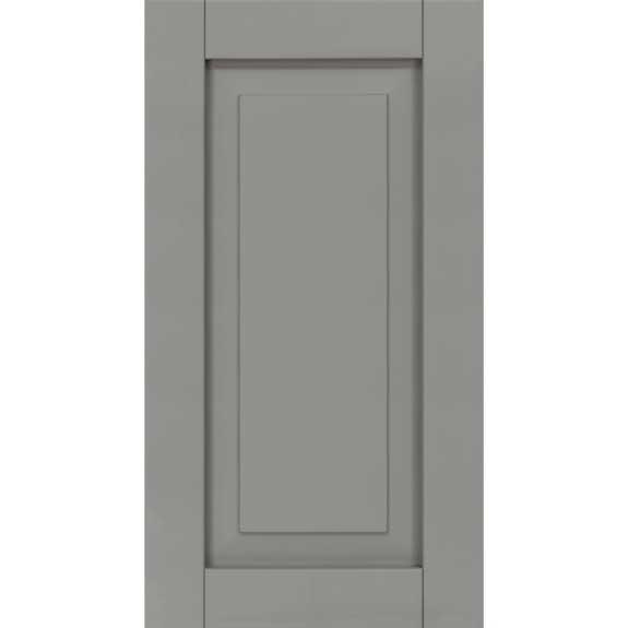 Raised panel composite primed exterior shutters for windows.