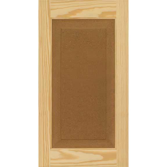 Builder grade economy pine raised panel exterior shutters raw.