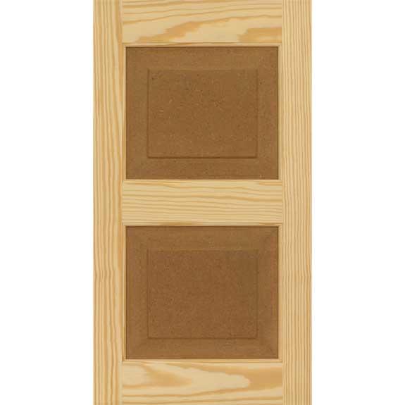 Southern Yellow Pine raised panel DIY outside shutters.