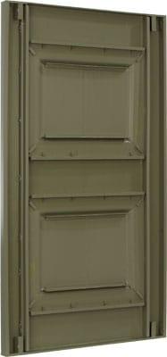 Back of vinyl raised panel exterior shutters.